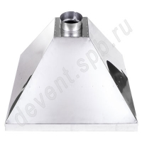 Зонт вытяжной нержавеющая сталь 800х800