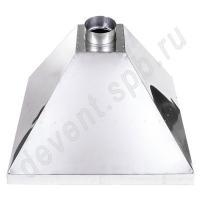 Зонт вытяжной нержавеющая сталь 1000х1000